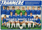 TRANMERE ROVERS FC AUTOGRAPHS FROM LATE 1970-90's SIGNED WHITE CARDS