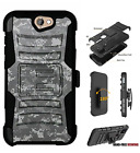 For HTC Bolt,One A9,Desire Series Hybrid Belt Clip Holster Case Army Camo