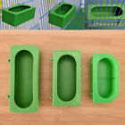 Plastic Green Food Water Bowl Cups Parrot Bird Pigeons Cage Cup Feeding FeedeQ0E