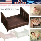 Wood Newborn Baby Wooden Seat Photography Photo Prop Infant Posing Photographic