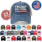 Trump 2024 The Sequel Campaign Rally Embroidered US Trump MAGA Hat Baseball Cap