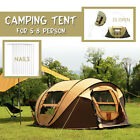 8-10 People Outdoor Camping Tent Waterproof Privacy Family Hiking Travel Shelter