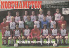 NORTHAMPTON TOWN FC AUTOGRAPHS FROM LATE 1970-90's SIGNED WHITE CARDS