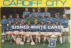 CARDIFF CITY  FC AUTOGRAPHS FROM LATE 1970-90's SIGNED WHITE CARDS