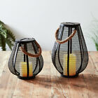 Mesh Flickering LED Outdoor Solar Garden Candle Patio Lanterns by Lights4fun