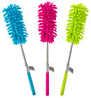 EXTENDABLE TELESCOPIC DUSTER MICROFIBRE CLEANING FEATHER BRUSH WASHABLE 27- 25cm