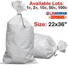 WHITE WOVEN (WPP) HEAVY DUTY DURABLE REUSABLE RUBBLE BAGS/SACKS Size : 22 x 36