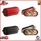 Emile Henry Italian Bread Baker Black And Red Color Oven Safe Burgundy Clay NEW