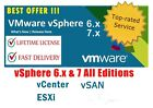 🔥Best Offer🔥VMware ✔ESXi 6-7 Enterprise Plus ✔Unlimited CPUs/vCenter LifeTime✔