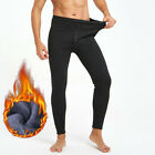 Men's Winter Warm Thicken Trousers Fleece Lined Thermal Stretchy Leggings Pants