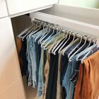 Clothing Rail Top Hanger Rack Bar Pull-Out Closet Valet Rod Adjustable Wardrobe