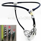 Men's Chastity Belt Stainless Steel Adjustable Waist With Plug Chastity Device