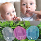 Soft Baby Infant Silicone Finger Toothbrush Teeth Rubber Massager Brush  Box US