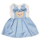 NEW CUTE BEAR DOG PUPPY SKY BLUE COSTUME CLOTHES BIRTHDAY PARTY DRESS
