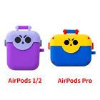 Supercell Brawl Stars Treasure Rubber Protective Case Cover For AirPods 1/2