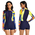 Women's One Piece Rash Guard Long Sleeve UV Protection Surfing Wetsuit Swimsuit