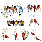 Multicolor Birds Wire High-Stained Glass Suncatcher Window Panel Home Wall Decor