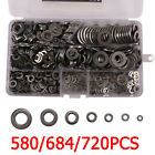 580/720x 304 Stainless Steel Flat Washers Kit For M2 M2.5 M3 M4 M5 M6 M8 M10 M12