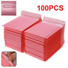 100X Pink Poly Bubble Bag Mailer Plastic Padded Envelope Shipping Bags Packaging