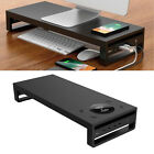 Aluminum Alloy Panel Computer PC Monitor Desk Stand with Wireless Charger