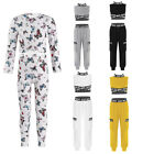 Kid Girls Casual Outfits Moth Flying Printed Pullover Shirts Gyms Yoga Leggings