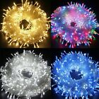 Christmas+LED+Fairy+String+Lights+Mains+Plug+In+Clear+Cable+Garden+Outdoor+Decor