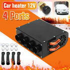 Universal 12V 4 Hole Compact Car Truck Heater Heat Demister Defroster Three