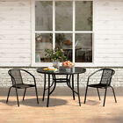 Bistro Dining Cafe Glass Table 2/4/6 Chair Set Garden Patio Outdoor Furniture