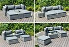 Rattan Garden Furniture Sofa Enzo Lounge Bed 5 Piece Set - In or Outdoor