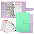 PU Leather Notebook Binder Budget Planner Organizer w/A6 Pockets Cover 26 Labels