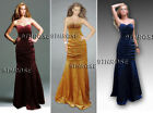 SPEAK THE ELEGANCE! STRAPLESS BEADED RUCHED FORMAL/EVENING/PROM LONG DRESS