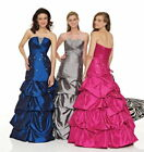 AWESOME BEADED & PLEATED STRAPLESS BLUE FORMAL/PROM/EVENING/BRIDESMAID/BALL GOWN