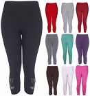 NEW WOMENS 3/4 BUTTERFLY SEQUIN LADIES STRETCH LEGGINGS