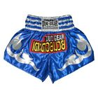 'KB' BLUE SILVER THAIBOXING TRAINING & FIGHTING SHORTS