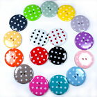Round Plastic Polka Dot Spot 2 Hole Buttons - Colour, Size and Quantity Choice