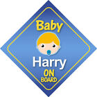 Baby Harry On Board Car Sign *Choice of Hair Colours*