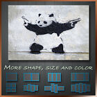 Banksy Panda With Gun Graffiti Funky Art Canvas Box More Color & Style & Size !!