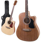Kalos Acoustic Electric Guitar Dreadnought Cutaway+Tunr
