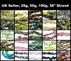 Gemstone 4-8mm Chip beads - 25g / 50g / 100g / Strand - Approx 100 to 400 beads