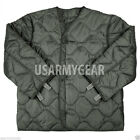 US Army Military M65 Field Jacket GI Quilted OD Green Coat Liner M-65 M L XL XXL
