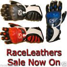 SWIFT BUSHIDO LEATHER MOTORCYCLE MOTORBIKE BIKE GLOVES WITH ARMOURED KNUCKLES