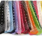 BANDANAS Multi Purpose 100% Cotton Paisley Bandanas 15 Different Style & Colors*
