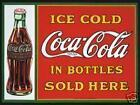 A1865 COLD COCA COLA BOTTLES SOLD HERE KEYRING BOTTLE OPENER OR MAGNET