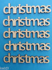 Wooden Words Chistmas 1.5cm tall Laser cut Other Words also available Noel Menu