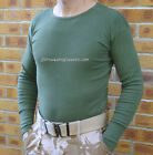ARMY SURPLUS ISSUE ECW GREEN THERMAL LONG SLEEVE VEST TOP COLD WEATHER LAYER G1