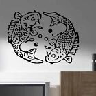 CHINESE FISH LARGE VINYL WALL STICKERS DECAL FENG SHUI SPA KOI CARP POND