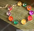 Fashion Girls Colorful Rainbow Candy Ball Cuff Bracelet