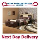 """STUNNING Two Tone Cappachino 3ft 6"""" Large Single Faux Leather Bed FREE NEXT DAY"""