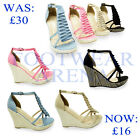 New Ladies Strappy Ankle Platform Wedge Sandals Womens Shoes Size UK 3 4 5 6 7 8