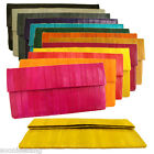 Genuine Eel Skin Rectangle Wallet Clutch Handbag Bag Purse